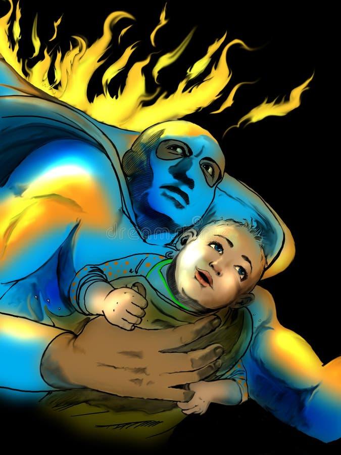 dziecka oszczędzania bohater royalty ilustracja
