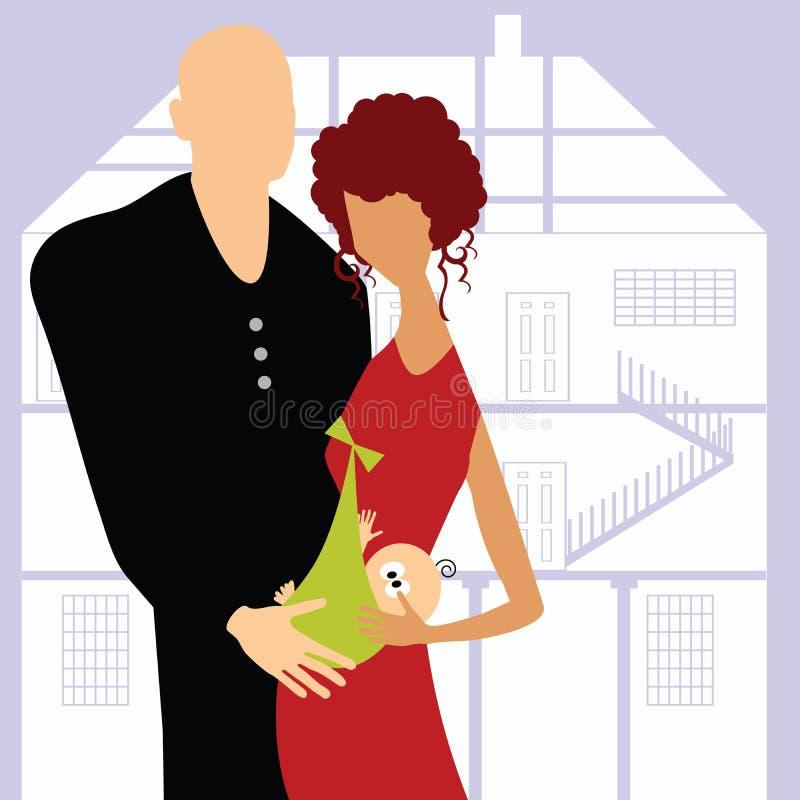dziecka pary szczęśliwy nowy royalty ilustracja