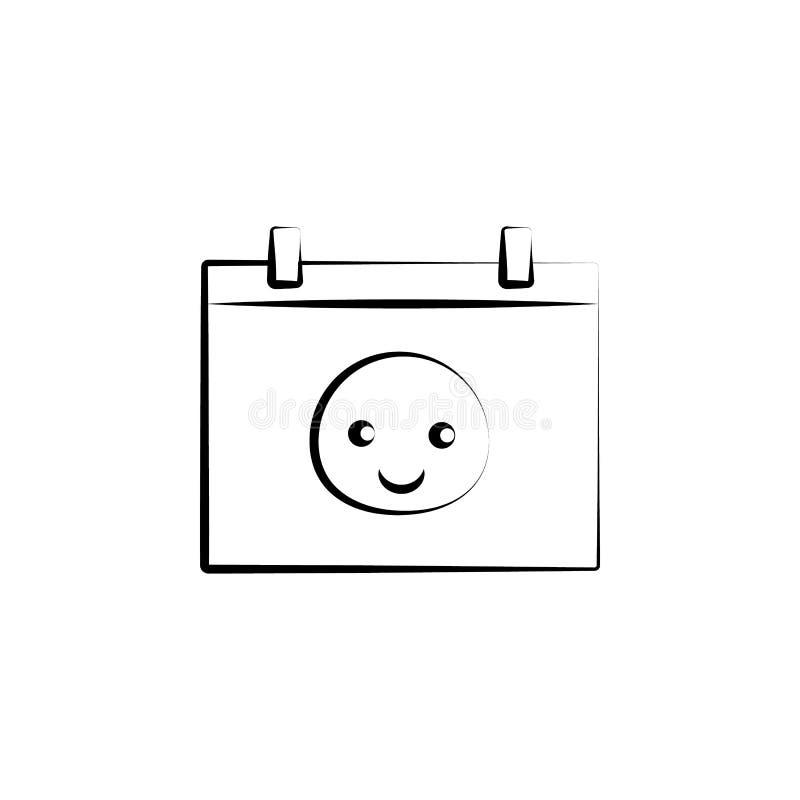 dziecka pojęcia linii urodzona kalendarzowa ikona Prosta element ilustracja dziecka pojęcia konturu symbolu urodzony kalendarzowy ilustracja wektor