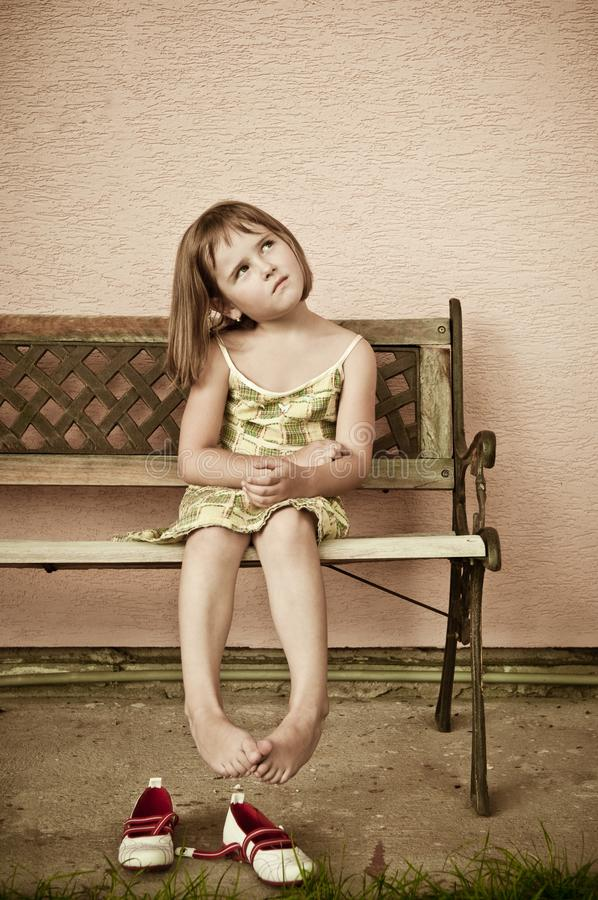 dziecka portreta stylu rocznik zdjęcie stock