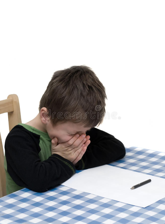 dziecka pracy domowej ja target4469_0_ zdjęcia royalty free