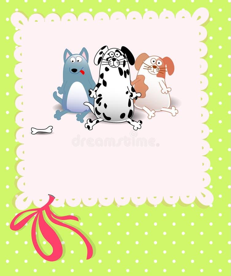 dziecka psów prysznic wektor royalty ilustracja
