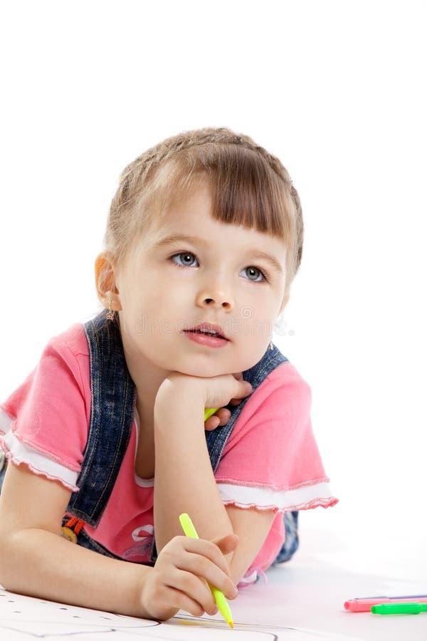 dziecka remisu sen filc pióro zdjęcia royalty free