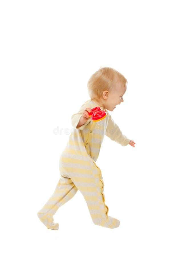 dziecka rozochocony brzęku bieg obraz royalty free