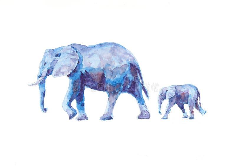 dziecka słoni matka ilustracja wektor