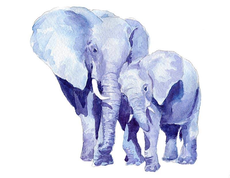 dziecka słoni matka royalty ilustracja