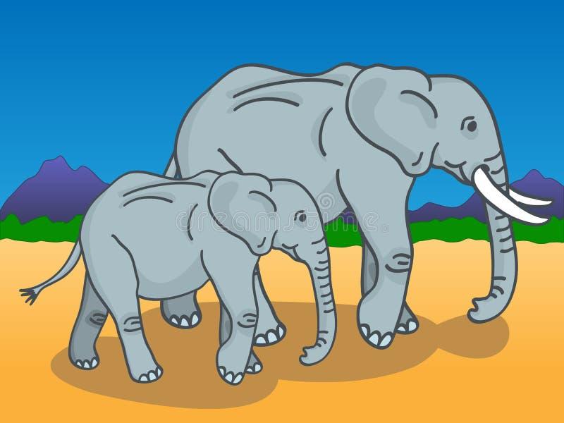 dziecka słonia matka ilustracji