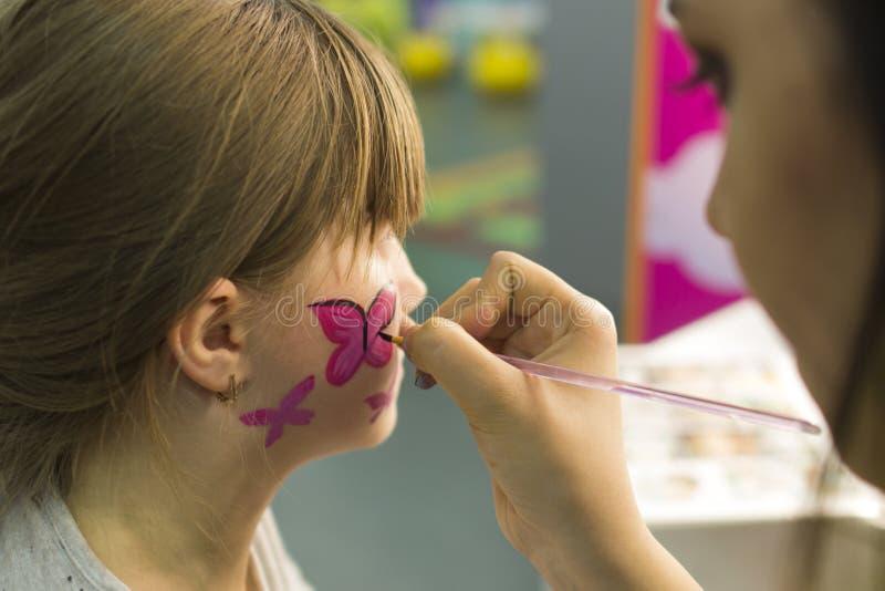 Dziecka ` s makijażu wizerunek obraz stock