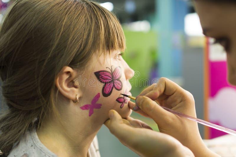 Dziecka ` s makijażu wizerunek zdjęcie royalty free