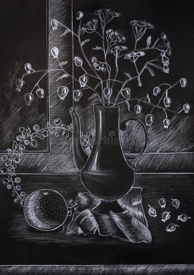 Dziecka ` s ołówkowy rysunek ilustracji