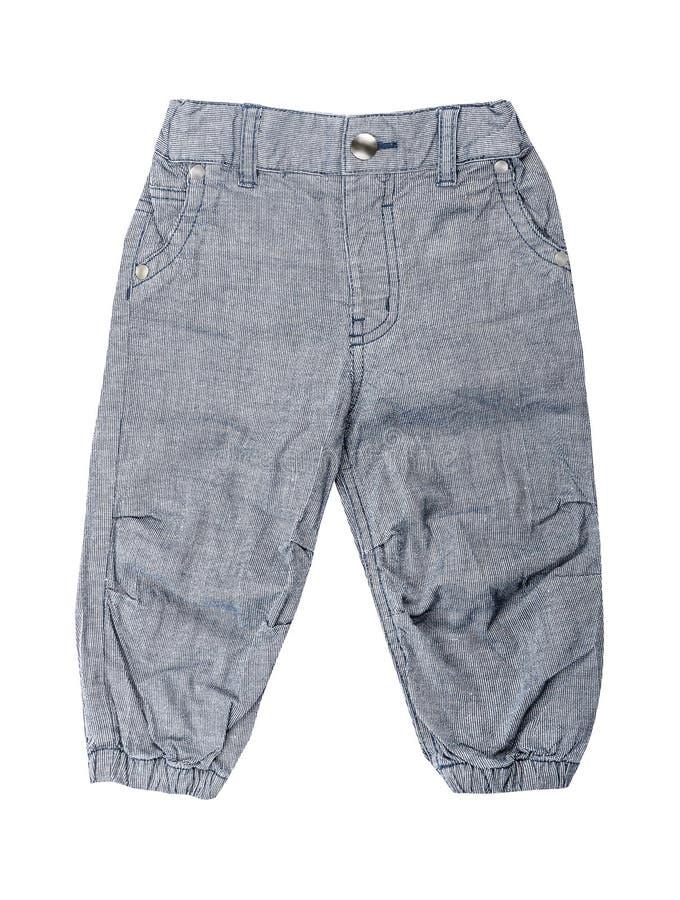 Dziecka ` s odzież - Bawełniany elegancki siwieje dzieciaka ` s spodnia zdjęcia stock