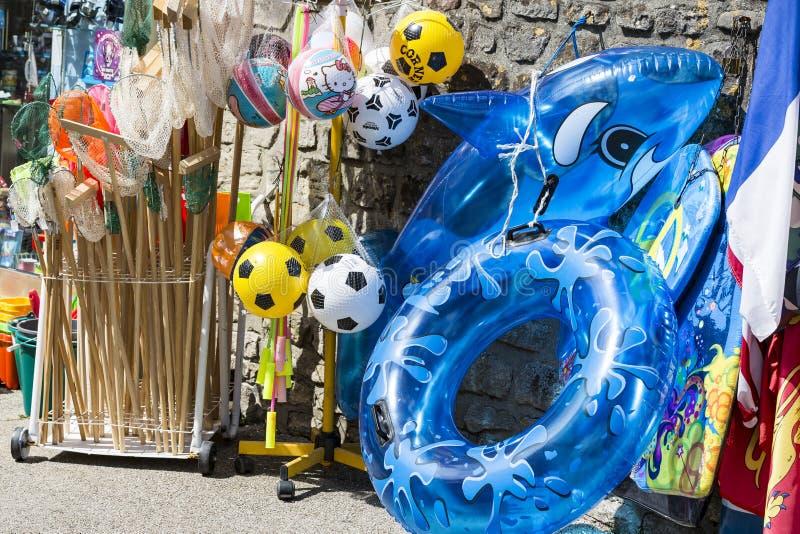 Dziecka ` s plaża bawi się na rynku zdjęcie royalty free