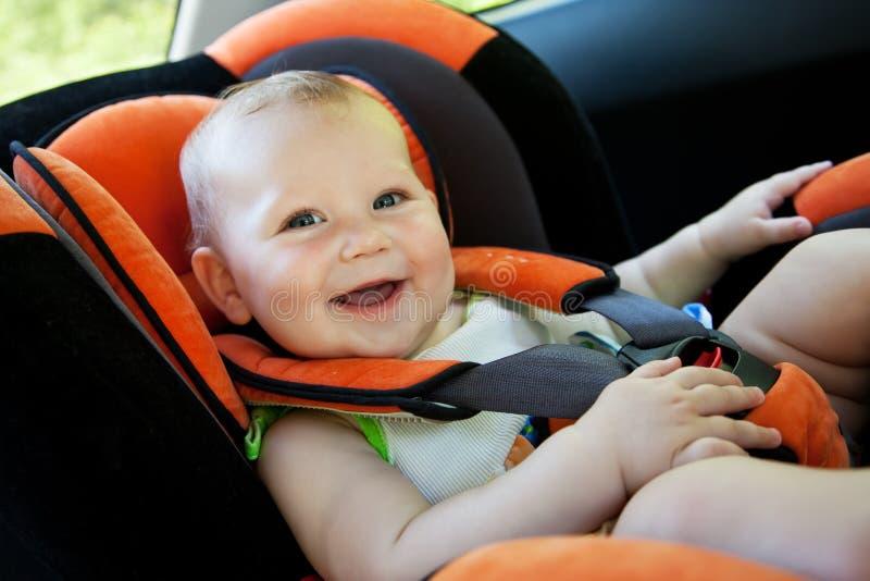 dziecka samochodu uśmiech obrazy royalty free