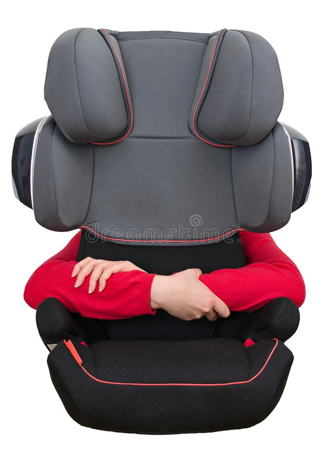 Dziecka siedzenia zbawczy pojęcie. fotografia stock