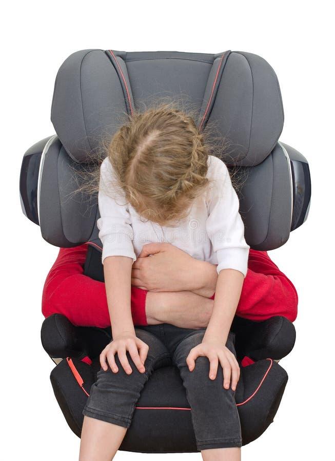 Dziecka siedzenia zbawczy pojęcie. fotografia royalty free