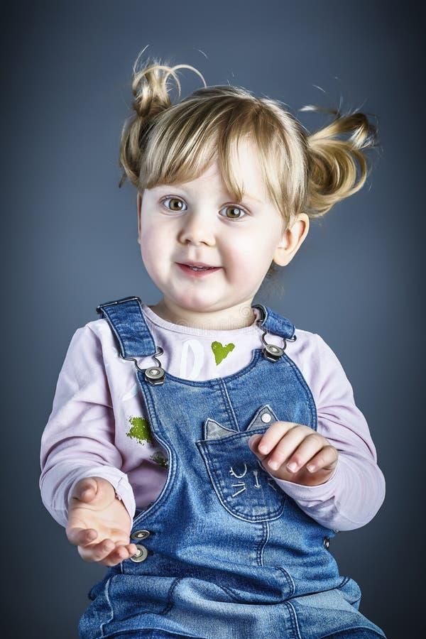 Dziecka studia portret zdjęcia royalty free