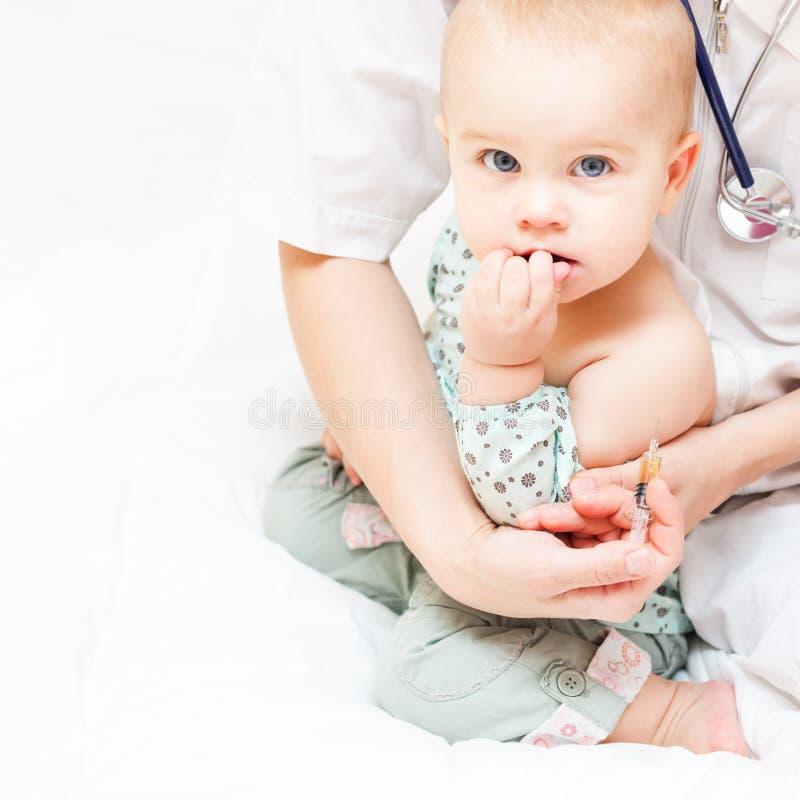 Dziecka szczepienie zdjęcie royalty free