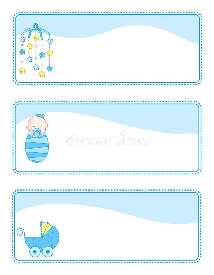 dziecka sztandarów etykietki ilustracji