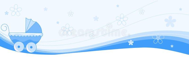 dziecka sztandaru chłopiec chodnikowiec ilustracji