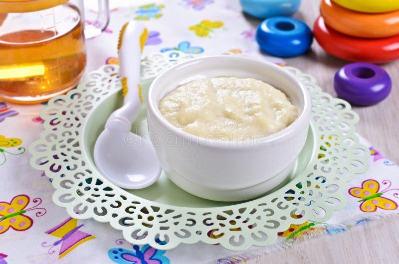 dziecka tła karmowy makaronowy surowy biel zdjęcia royalty free