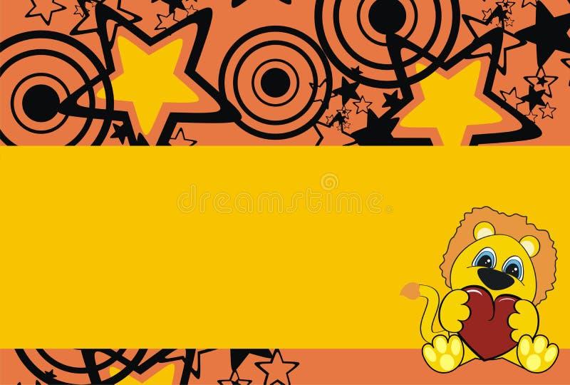 dziecka tła kreskówki lew ilustracja wektor