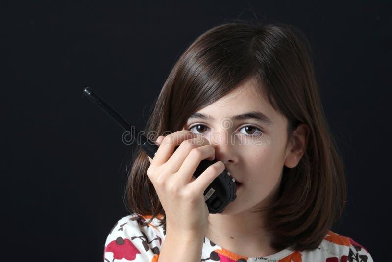 dziecka talkie walkie zdjęcie stock
