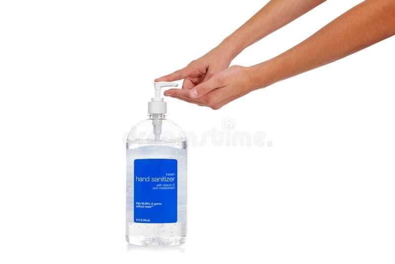 dziecka target1953_0_ ręki s sanitizer fotografia royalty free