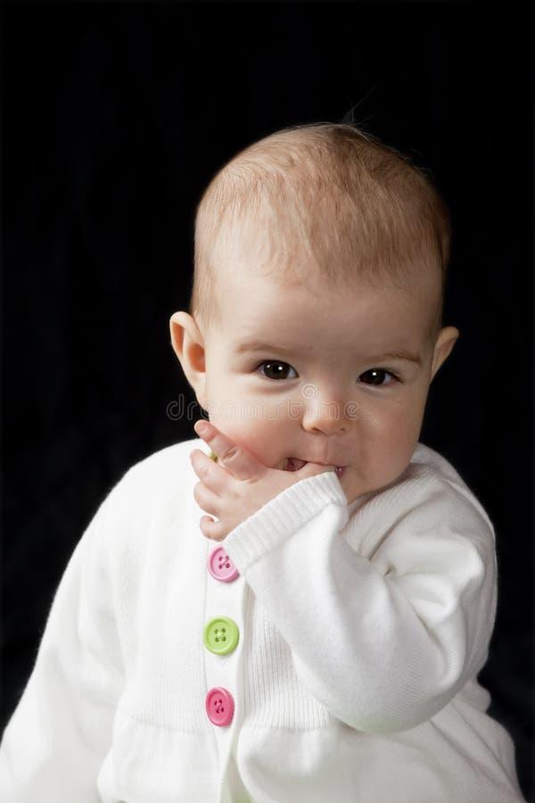 dziecka target795_0_ kciuk zdjęcia royalty free