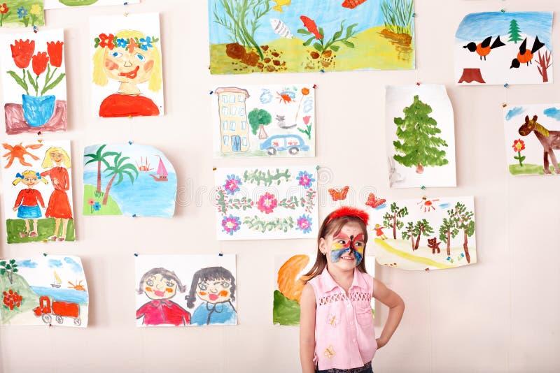 dziecka twarzy obrazu sztuka pokój zdjęcie stock