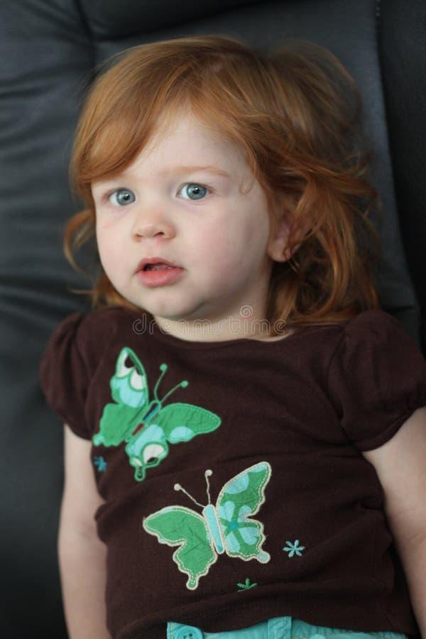 dziecka włosy czerwień zdjęcie royalty free