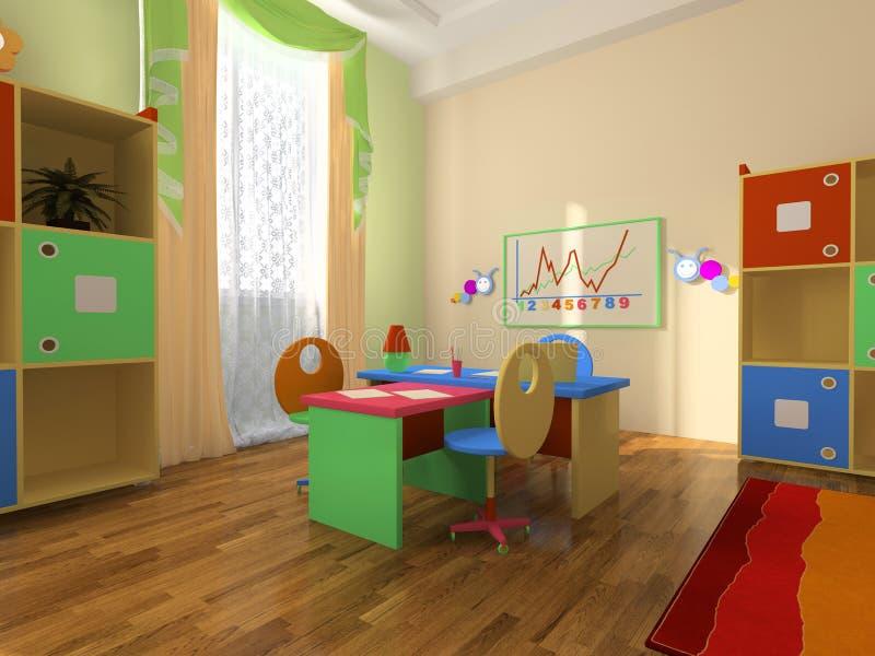 dziecka wnętrza biuro ilustracji