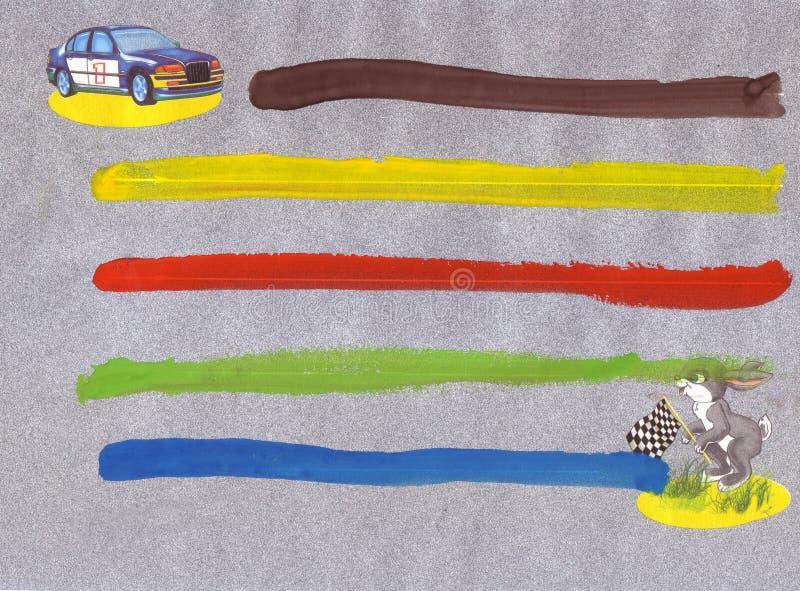 Dziecka zastosowanie wiec, zając, samochód ilustracja wektor