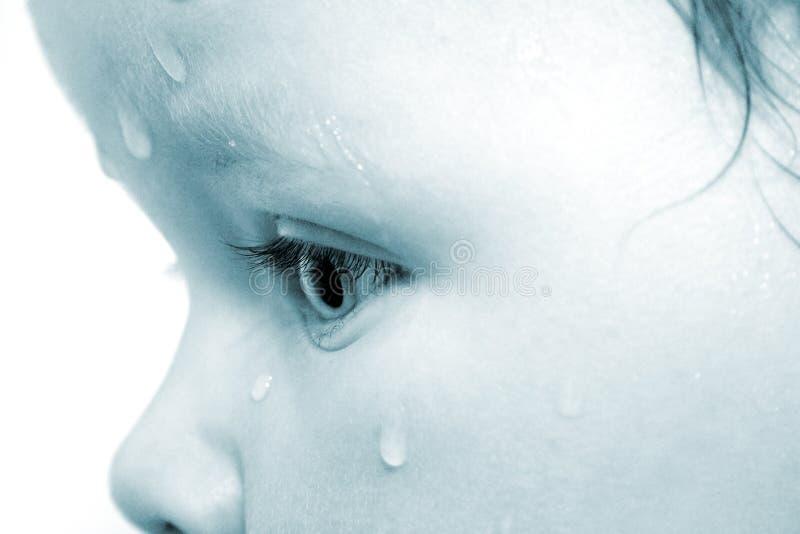 dziecko łzy obraz stock