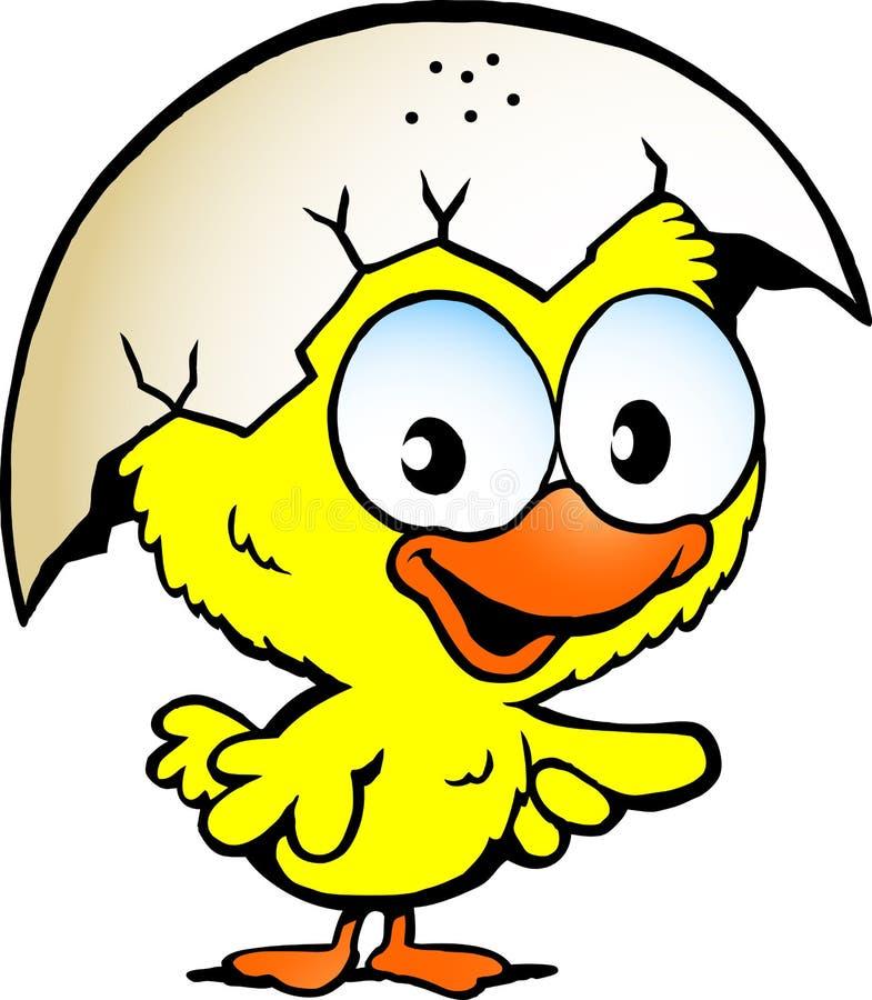 Dziecko śliczny kurczak ilustracji