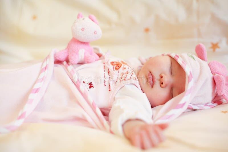 dziecko śpi zdjęcie royalty free