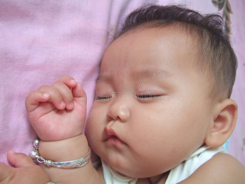 dziecko śpi zdjęcia royalty free