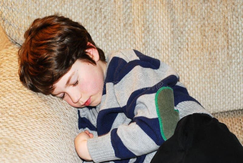 dziecko śpi chłopca zdjęcia stock