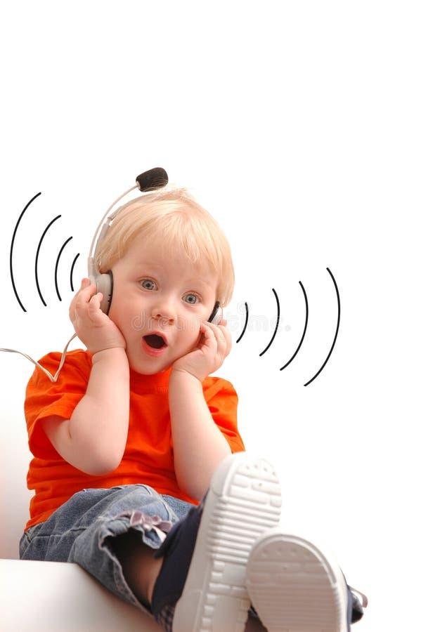 dziecko śpiew fotografia royalty free