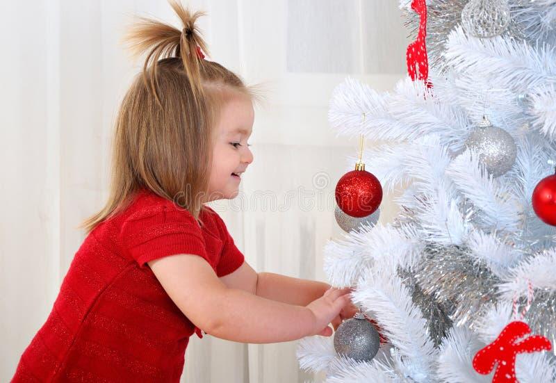 dziecko Świąt tła odizolowane w white fotografia royalty free