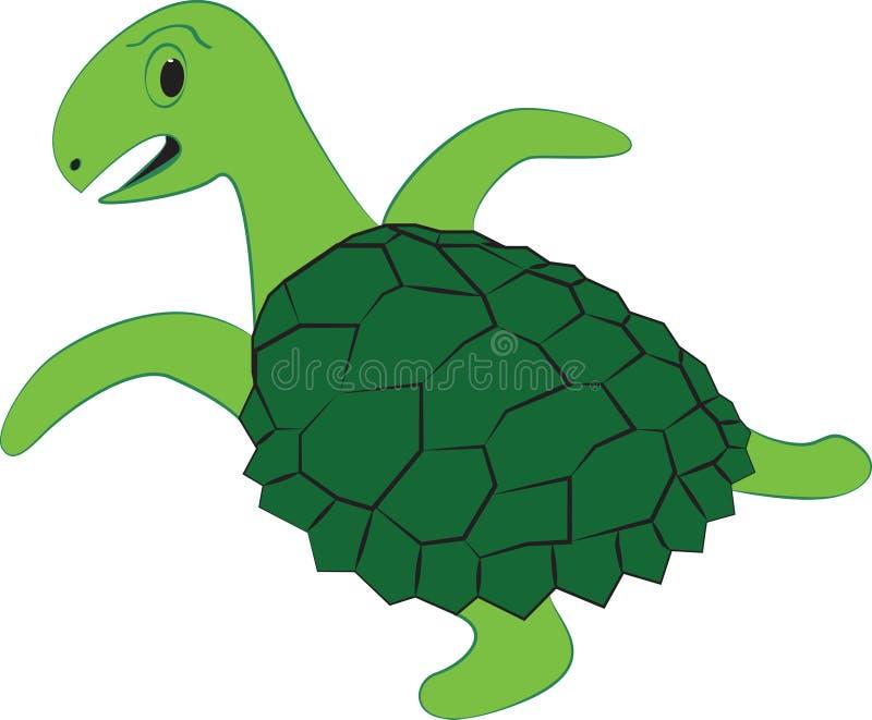 Dziecko żółwia projekt royalty ilustracja