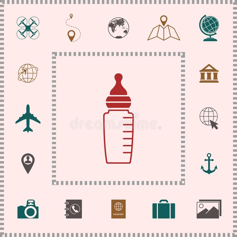 Dziecko żywieniowej butelki ikona ilustracja wektor