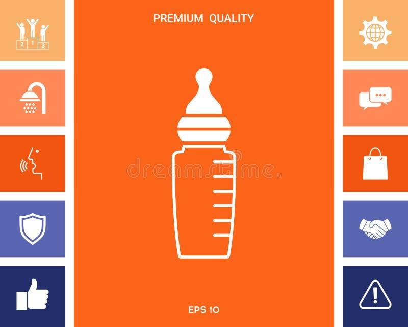 Dziecko żywieniowej butelki ikona royalty ilustracja