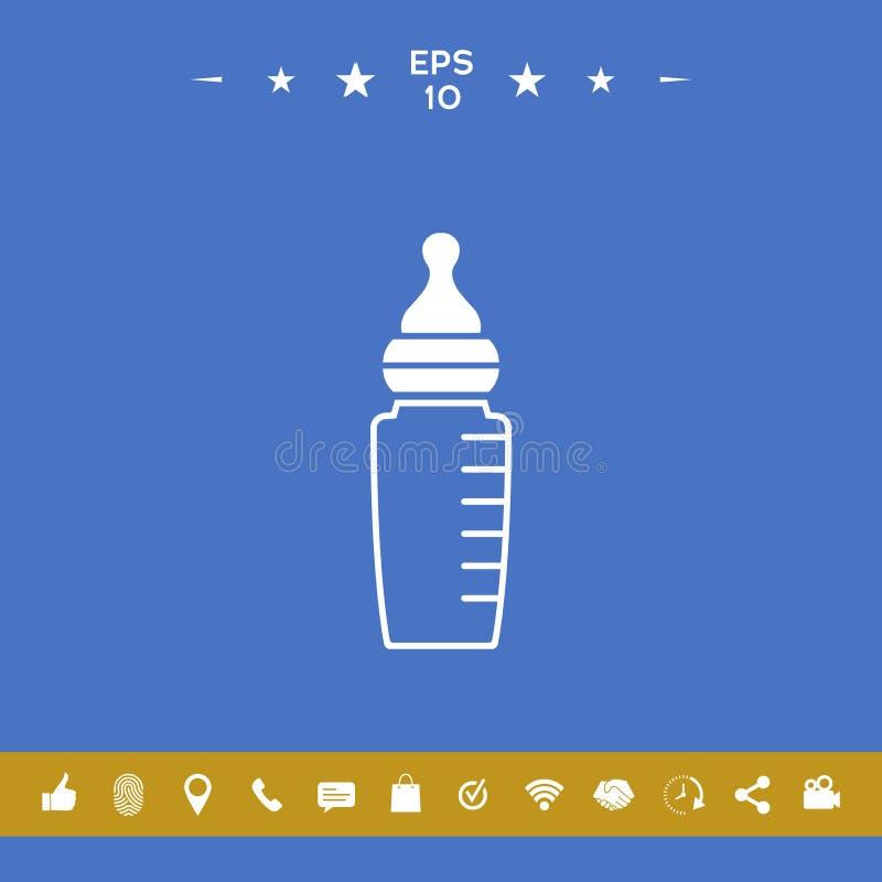 Dziecko żywieniowej butelki ikona ilustracji