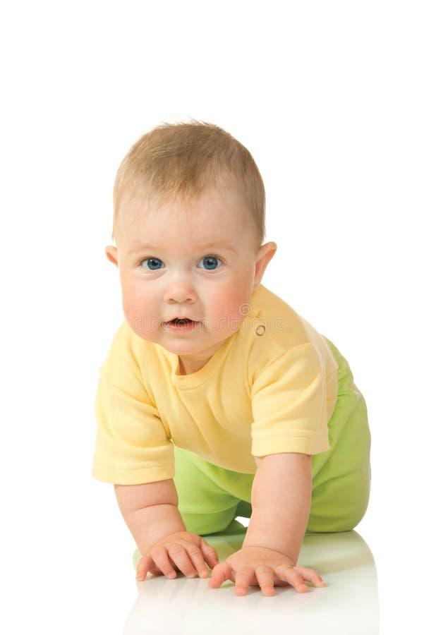 dziecko 3 odizolowane cierpnięcia mały obraz stock