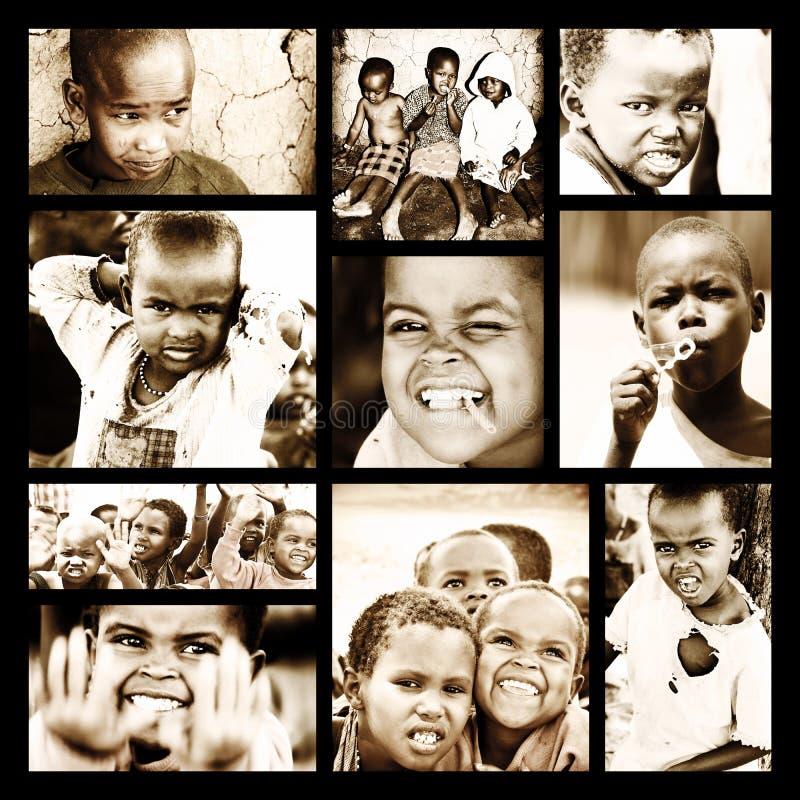dziecko afrykański kolaż zdjęcia stock