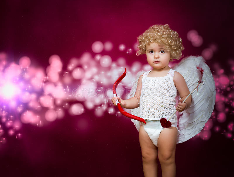 Dziecko amorek zdjęcie stock