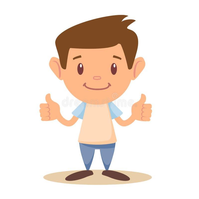 Dziecko aprobaty, wektorowa ilustracja ilustracja wektor