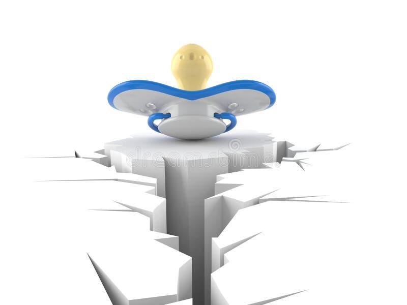 Dziecko atrapa z krakingową dziurą royalty ilustracja