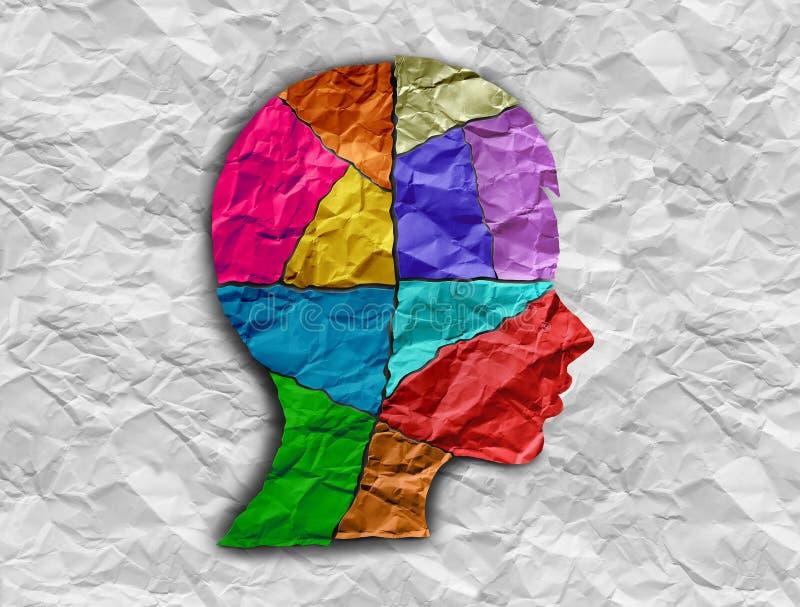Dziecko autyzmu mózg neurologia royalty ilustracja
