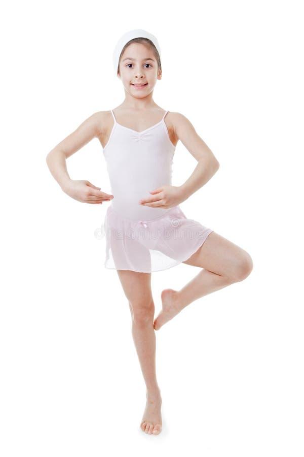 Dziecko baletnicza poza obrazy royalty free